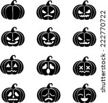icon pumpkin in black | Shutterstock .eps vector #222770722