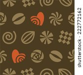 seamless pattern of chocolates | Shutterstock .eps vector #222772162