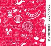 christmas vector seamless... | Shutterstock .eps vector #222777922
