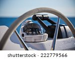 sailing yacht control wheel and ... | Shutterstock . vector #222779566