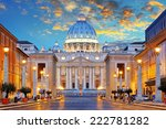 St. Peter's Basilica In Rome...