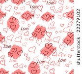 seamless pattern to valentine's ... | Shutterstock .eps vector #22279102