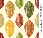 hand drawn cocoa beans seamless ... | Shutterstock .eps vector #222793918