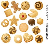 18 cookie icons  for your... | Shutterstock .eps vector #222794278