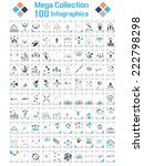 mega collections 100... | Shutterstock . vector #222798298