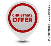 christmas offer pointer icon on ... | Shutterstock . vector #222804892