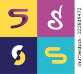 vector illustration letter s set | Shutterstock .eps vector #222819472