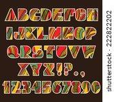 festive alphabet. set of abc...   Shutterstock .eps vector #222822202