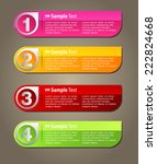 colorful modern text box... | Shutterstock .eps vector #222824668