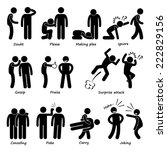 human man action emotion stick... | Shutterstock .eps vector #222829156