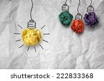 inspiration concept crumpled... | Shutterstock . vector #222833368