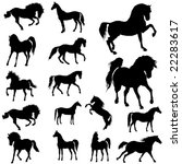 collection of horses. part 1. | Shutterstock .eps vector #22283617