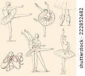 ballet | Shutterstock .eps vector #222852682