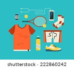 tennis icon set. | Shutterstock .eps vector #222860242