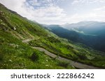 green landscape with mountains... | Shutterstock . vector #222866242