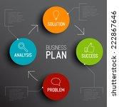 successful business plan... | Shutterstock .eps vector #222867646