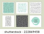 set of cards. hand drawn... | Shutterstock .eps vector #222869458