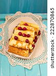 pancakes stuffed with cottage...   Shutterstock . vector #222870865