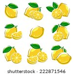 lemon set. vector | Shutterstock .eps vector #222871546