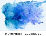 abstract blue watercolor... | Shutterstock .eps vector #222880792