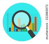 analytics icon. flat style...   Shutterstock . vector #222883072