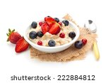oatmeal  and fresh fruits... | Shutterstock . vector #222884812