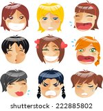 little girls head people avatar ... | Shutterstock .eps vector #222885802