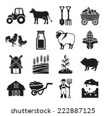 stock vector pictogram farm... | Shutterstock .eps vector #222887125