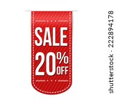 sale 20  off banner design over ... | Shutterstock .eps vector #222894178