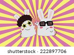 disco dancer   rock star   Shutterstock .eps vector #222897706