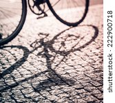 shadow of the vintage bike in... | Shutterstock . vector #222900718