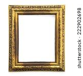 wooden frame isolated on white... | Shutterstock . vector #222902698