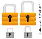 padlock icons  padlock graphics ... | Shutterstock .eps vector #222905392