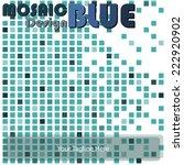 mosaic blue | Shutterstock .eps vector #222920902