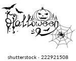 vector halloween card with text ... | Shutterstock .eps vector #222921508