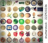 vintage looking collage of food ...