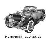 vintage car | Shutterstock .eps vector #222923728