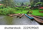 traditional boats at lake... | Shutterstock . vector #222929065