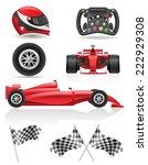 set racing icons illustration... | Shutterstock . vector #222929308