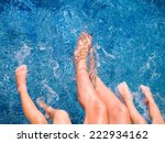 close up of feet of family in...   Shutterstock . vector #222934162