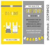 baby shower invitation ... | Shutterstock .eps vector #222938422