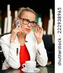 business woman outside on a... | Shutterstock . vector #222938965