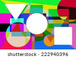 illustration of colorful... | Shutterstock . vector #222940396