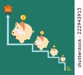 pink piggy bank savings and...   Shutterstock .eps vector #222943915
