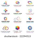 set of brand identity design...