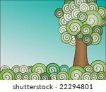 swirly gradient tree and... | Shutterstock .eps vector #22294801