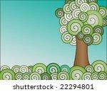 swirly gradient tree and... | Shutterstock .eps vector #22294801