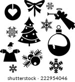 christmas balls xmas tree... | Shutterstock .eps vector #222954046