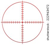 crosshair  reticle | Shutterstock .eps vector #222963472