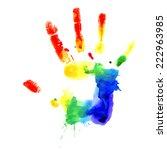 raster version. handprint in... | Shutterstock . vector #222963985